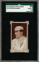 Rare 1912 T207 Patrick Moran Recruit Little Cigars Phila SGC 55 / 4.5 VG - EX +