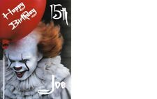 PERSONALISED IT CLOWN A5  BIRTHDAY CARD ANY NAME AGE GREETING OCCASION