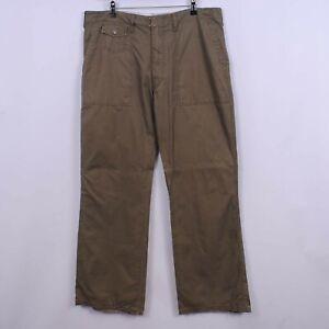 Men's Diesel 00's Fatigue Pant Bootcut Trousers In Khaki Green W36 L33   Vintage