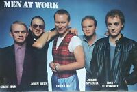 NEW! SEALED! POSTER MUSIC MEN AT WORK ALL 5 POSED  #NM04 1983 ROCK Concert Great