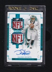 2020 IMPECCABLE ELEGANCE ROOKIE 1/1 DUAL SHIELD AUTO JALEN HURTS TRUE ONE OF ONE
