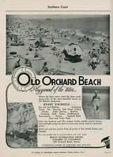 1965 Old Orchard Beach Vintage Travel Ad Maine Vacation Resort Sun & Surf ME