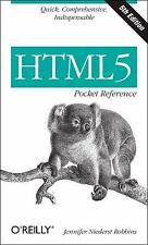 HTML5 Pocket Reference by Jennifer Niederst Robbins (2013, Paperback)