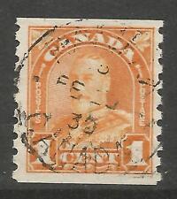 CANADA. 1930. 1c Orange Coil Stamp. SG: 304. Fine Used.