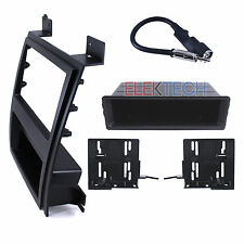 Radio Replacement Dash Mount Install Kit 2-DIN w/Pocket & Antenna for Cadillac