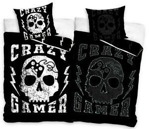 Crazy Gamer Glow in the dark Bedding Duvet Set Skull Single bed cover