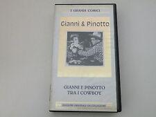 GIANNI E PINOTTO TRA I COWBOY - VHS 1942 BIANCONERO PAL - BUONE CONDIZ.V27