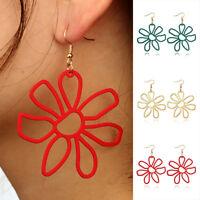 CN_ Large Flower Ear Drops Hook Earrings Women's Wedding Party Jewelry Gift La