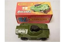 MATCHBOX 73d 1-75 series WEASEL die cast model tank, dark military green black