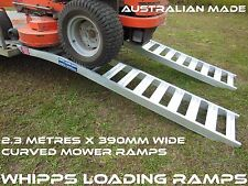 2.3 Metre Curved Extra Wide Zero Turn Mower Ramps 1 tonne Capacity
