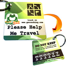 Ultra Light,Thin and Durable Plastic Trackable Tag trackable like a Travel Bug