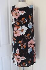 size 8 black floral print pipped dress from dorothy perkins brand new