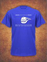 40th Anniversary KRAFTWERK  Tribute TRANS EUROPE EXPRESS  T-Shirt Royal Blue