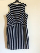 Women's Next Navy/White Striped Dress, Size 14 Petite, BNWT