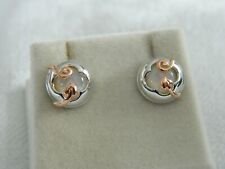 Clogau Sterling Silver & 9ct Rose Gold Tudor Court Stud Earrings RRP £169.00