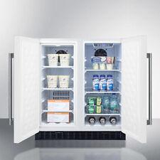 """Summit FFRF3075W 30"""" 5.4 Cu Ft French Door Compact Refrigerator Freezer White"""