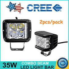 """2X 4""""inch 35W Side Shooter CREE Pods Combo LED Work Light Off-road Driving Lamp"""
