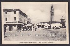 TREVISO SPRESIANO 03 - NEGOZIO COLONIALI SALSAMENTARIA Cartolina viaggiata 1916