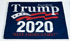DONALD TRUMP 2020 Keep America First Blue FLAG 3x5 Double Sided NYLON Grommets