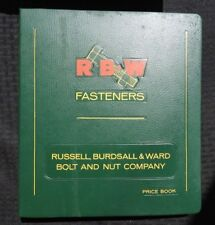 RUSSELL BURDSALL & WARD RONALD BAADE DEERFIELD NILES IL DEALER SALES CATALOG