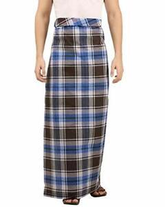 Men's Large Sarong Lungi Indian Dhoti 100% Cotton Fabric Length 2.25 Meter