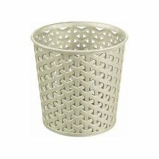 Desk Organiser Table Mini Cream Colour Round Storage Basket Design Rattan Pot