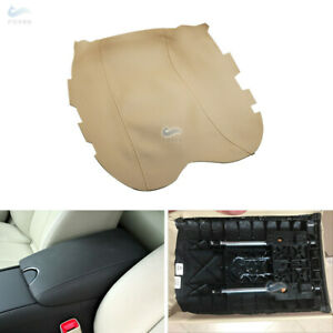 Beige Leather Center Console Lid Armrest Cover For Infiniti G37 2010-2014 Tan