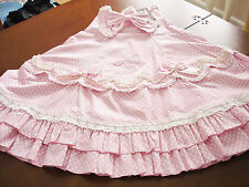 Bodyline Sweet Lolita Pink and White Polka Dot High-Waist Skirt Size M NWT