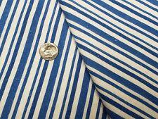 Best Vintage Feedsack Quilt Fabric 40s Blue & White Stripes Flour Full Sack