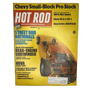 Hot Rod Magazine Original Vintage November 1971 Nova Street Rod Small Block