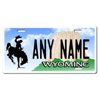 US Metal License Plate - Wyoming - Customise your own plate