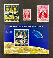 Venezuela 641 C1019 First Man Moon Landing Apollo Sheet Virgin Coromoto Indians