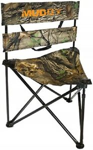 Muddy Outdoors Folding Tripod Ground Seat for Box Blind or Ground Blind