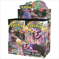 POKEMON TCG Sword And Shield Rebel Clash Booster Box Incl 36 Booster Packs
