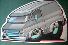 '71 and Up  Chevy Van Tin Sign in Silver