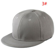 4 Color Unisex Plain Fitted Cap Baseball Hats Solid Flat Bill Visor Blank Color