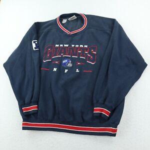 Vintage New York Giants Lee Sport Crewneck Sweatshirt Mens XL Blue Embroidered