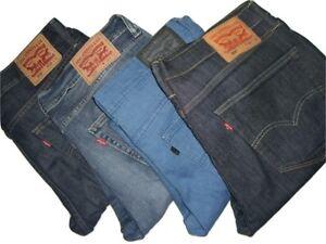 Mens LEVIS 508 Regular Tapered Blue Denim Jeans W30 W32 W34 W36 W38 W40