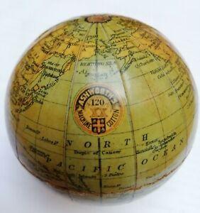 RARE ASHWORTHS COTTON ANTIQUE PROMOTIONAL POCKET GLOBE CIRCA1800s GOOD CONDITION