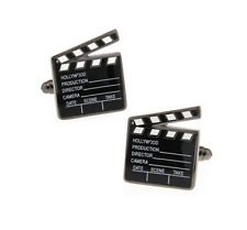 Black Color Hollywood Film Design Cuffllinks