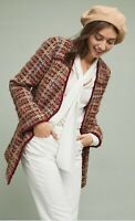 Anthropologie Ett:twa Harlequin Tweed Blazer Jacket Woman Size M New $178
