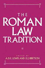 The Roman Law Tradition by Cambridge University Press (Paperback, 2007)