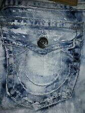 True Religion Men's Ricky Super T Relaxed Straight Distressed Jeans 30 NWOT