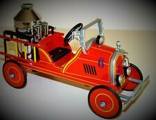 A Pedal Car 1910s Ford Fire Engine Red Truck Vintage T Midget Metal Show Model