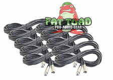 XLR Microphone Cables 10 Pack - 20Ft Wire Mic Cord Studio Patch Mixer Pro Audio