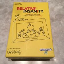 Relative Insanity Party Game About Crazy Relatives Jeff Foxworthy - New Sealed
