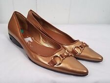 Cole Haan tan gold buckle pointy toe womens Shoes size 8