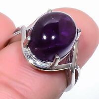 African Amethyst Gemstone Solid 925 Sterling Silver Ring Jewelry s.Ad S21256