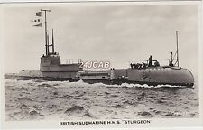 "Royal Navy Real Photo. HMS ""Sturgeon"" & HNLMS ""Zeehond"" Submarine c 1930s"