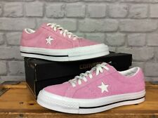 CONVERSE UK 8 EU 41.5 STAR Retro Rosa todos STAR ONE lo Gamuza Zapatillas